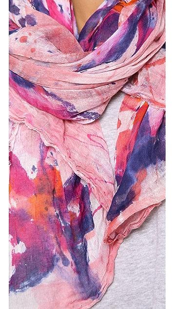 Franco Ferrari Paint Splatter Tie Dye Scarf