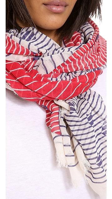Franco Ferrari Stripes & Triangles Scarf
