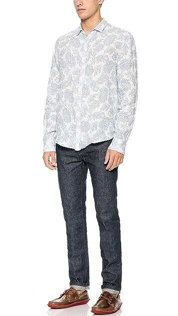 Frank & Eileen Paisley Linen Shirt