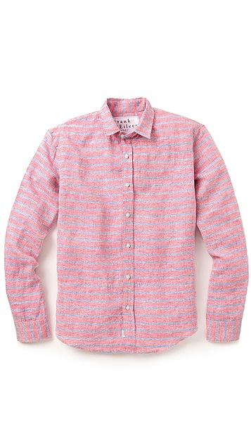 Frank & Eileen Horizontal Striped Linen Shirt