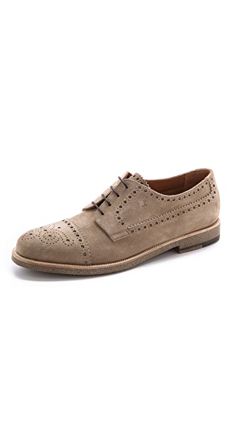 Fratelli Rossetti Suede Derby Cap Toes
