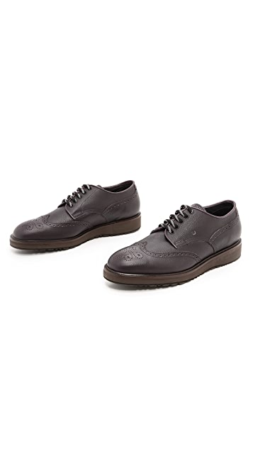 Fratelli Rossetti Pebbled Grain Wingtip Shoes
