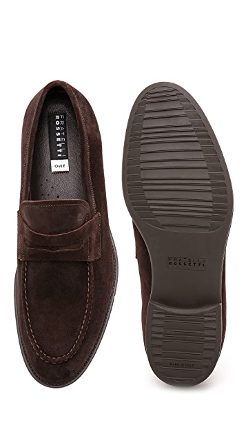 Fratelli Rossetti Suede Penny Loafers
