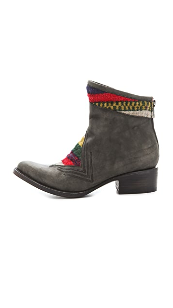 FREEBIRD by Steven Aztek Colorblock Booties
