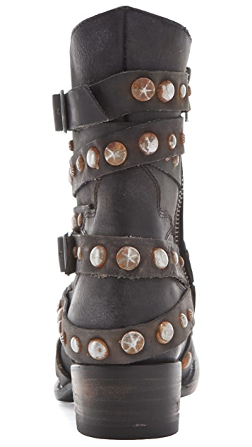 FREEBIRD by Steven Haley Booties with Studded Straps