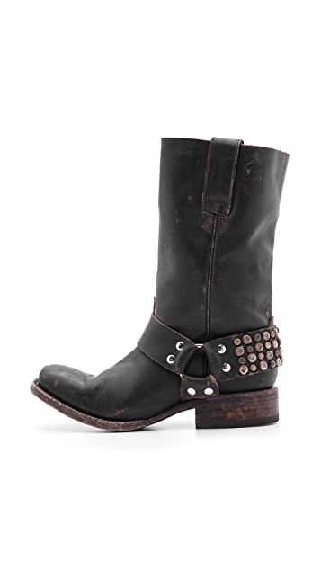 FREEBIRD by Steven Thompson Studded Moto Boots