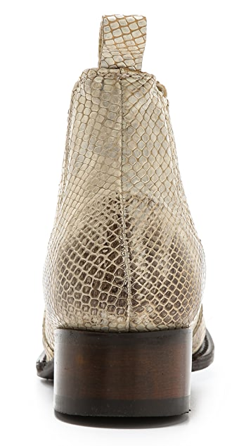 FREEBIRD by Steven Lasso Snake Embossed Booties