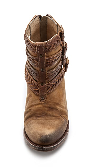 FREEBIRD by Steven Roper Braided Strap Booties