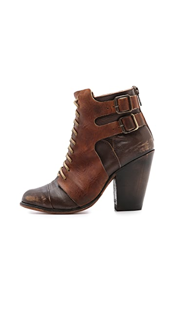 FREEBIRD by Steven Mallory Lace Up Booties