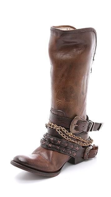 FREEBIRD by Steven Knox Harness Tall Boots