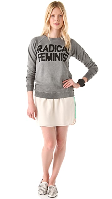 FREECITY Radical Feminist Raglan Sweater