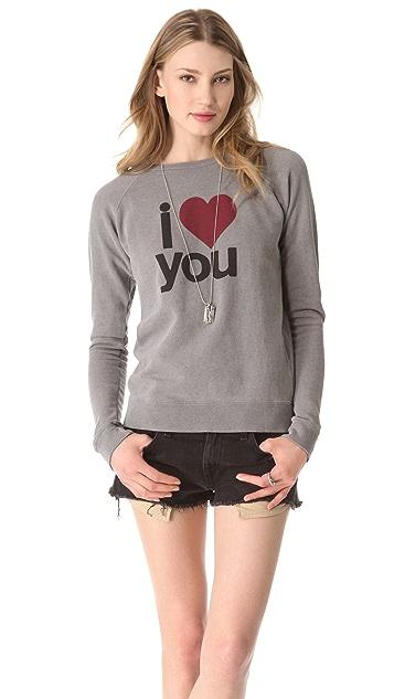 FREECITY I Love You Raglan Sweater