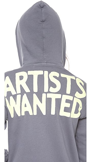 FREECITY Artists Wanted Sherpa Zip Hoodie