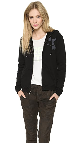 FREECITY Large Sherpa Zip Sweatshirt