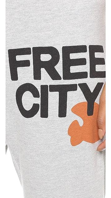 FREECITY Heather Swami 3/4 Sweatpants
