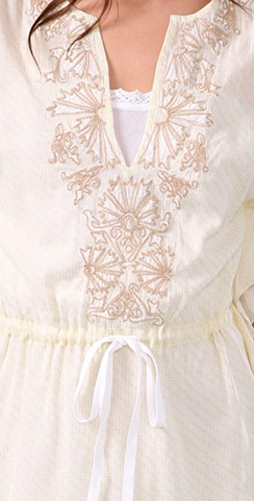 Free People Prickly Poppy Cotton Caftan Dress