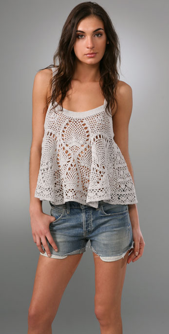 Free People Carefree Crochet Camisole Shopbop