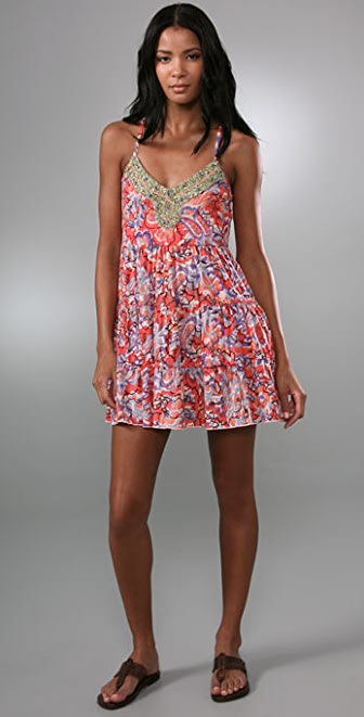 Free People Tiered Jeweled Dress