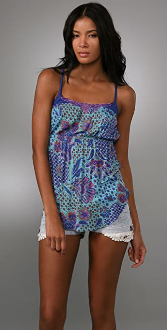 Free People Printed Cinch Tank