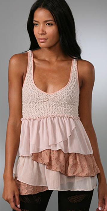 Free People Ruffle My Feathers Top