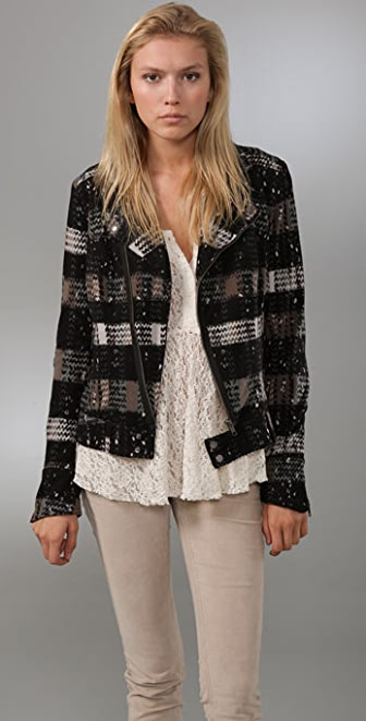 Free People Revved Up Knit Moto Jacket