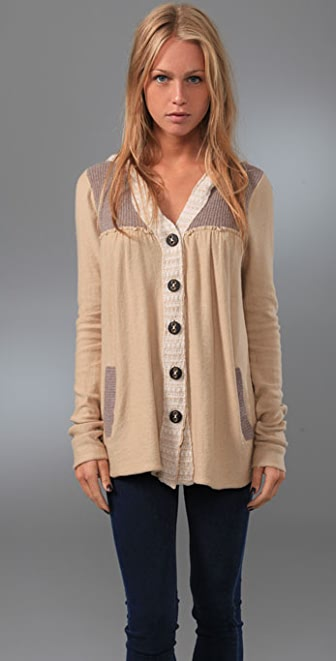 Free People Elga Hooded Cardigan