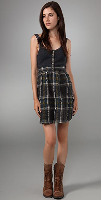 Free People Break Free Plaid Dress