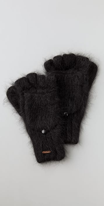 Free People Angora Convertible Gloves