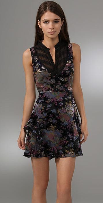 Free People Falling Leaves Burnout Dress
