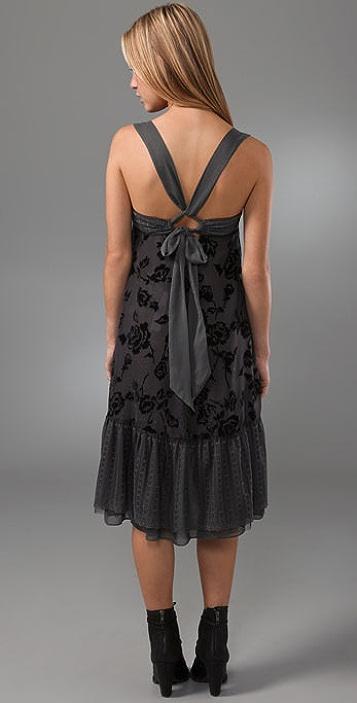 Free People Tie Back Rose Dress