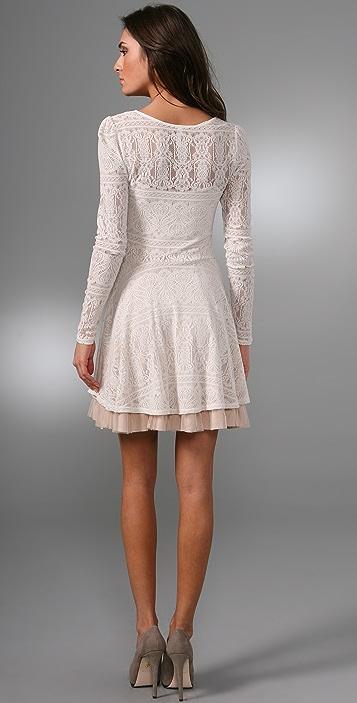 Free People Lace Puff Sleeve Dress