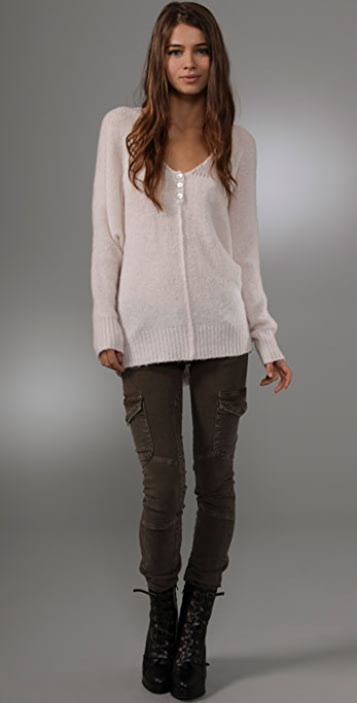 Free People Snowflake Pullover Sweater