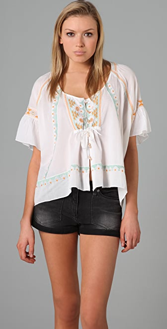 Free People Boho Trapeze Top