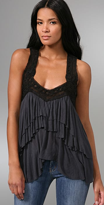 Free People Athena's Tiered Top