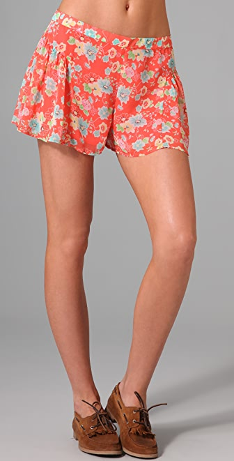 Free People Ruched Yoke Shorts