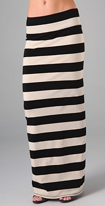 Free People Striped Column Skirt