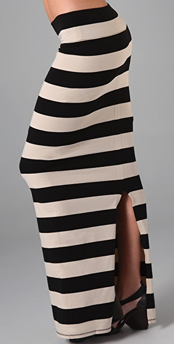 Free People Striped Column Skirt