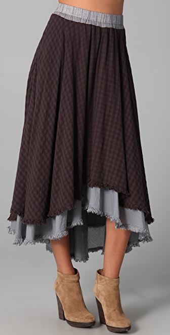 Free People High Low Midi Skirt