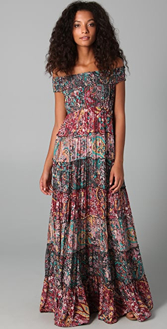 Free People Floral Cascade Maxi Dress | SHOPBOP