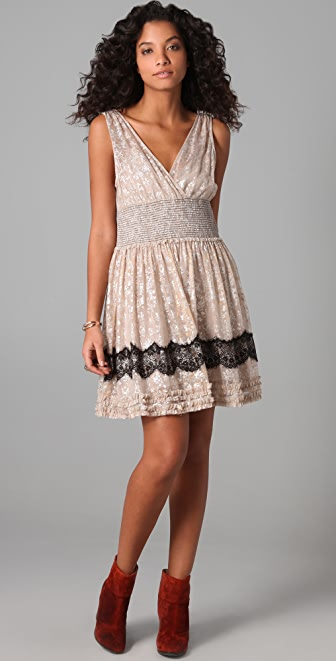 Free People Fancy Lace Dress