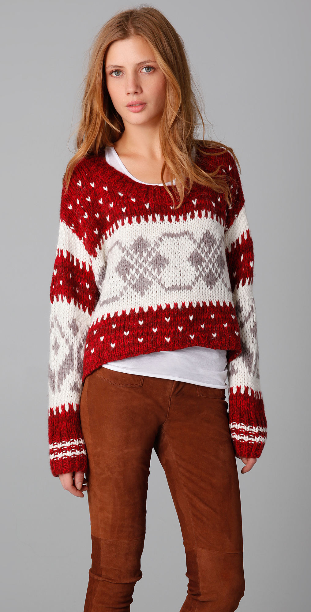 Free People Cropped Fair Isle Pullover | SHOPBOP