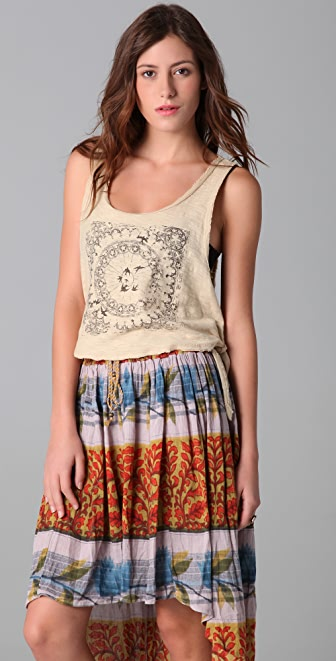 Free People Secondhand Slub Pilot Graphic Tank
