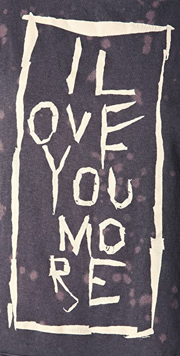 Free People Neon Lights 'I Love You More' Tee
