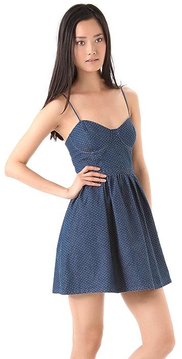Free People Polka Dot Bustier Dress
