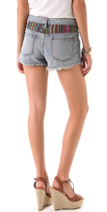 Free People Baja Rugged Denim Shorts