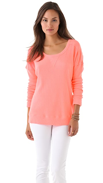 Free People Solid Washed Pullover