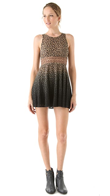 Free People Leopard Daisy Dress
