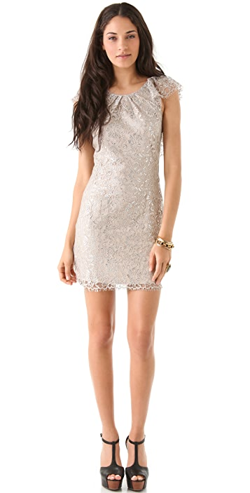 Free People Shimmer Lace Bodycon Dress