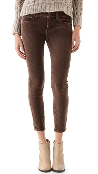 Free People Velvet Skinny Pants
