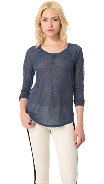 Free People Ballpark Raglan Top